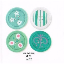 Pack 12 Botones Adhesivos Verdes