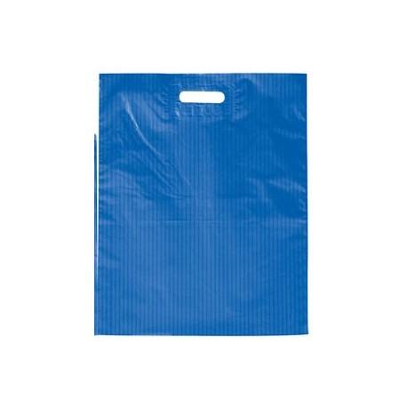 Bolsa Plástico Rayas Asa Troquelada