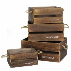 Caja Madera Recyclable