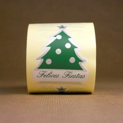 Etiqueta Árbol Feliz Navidad